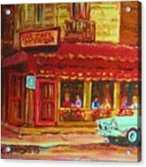 Coffee Bar On The Corner Acrylic Print