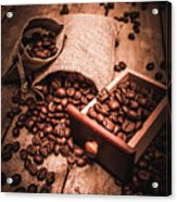 Coffee Bean Art Acrylic Print