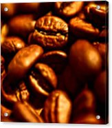 Coffee  Beans- Gold Acrylic Print