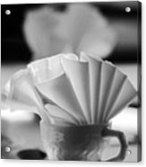 Coffee Cup Black And White Acrylic Print