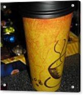 Coffee Cup Series. Yellow And Orange. Acrylic Print
