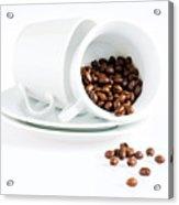 Coffee Cups And Coffee Beans  Acrylic Print