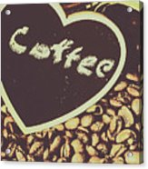 Coffee Heart Acrylic Print