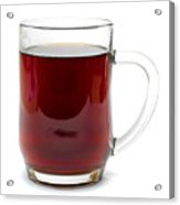Coffee In Glass Mug Isolated On White Acrylic Print
