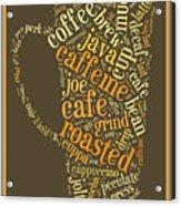 Coffee Lovers Word Cloud Acrylic Print