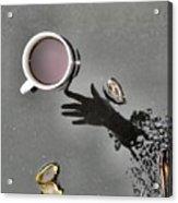 Coffee On Black Top Pond No. 5 Acrylic Print