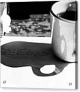 Coffee Poetry Acrylic Print