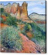 Coffee Pot Rock Sedona Arizona Usa 2001   Acrylic Print