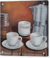 Coffee Set Acrylic Print
