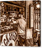 Coffee Time At The Station. Acrylic Print