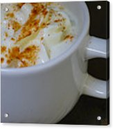 Coffee With Whipped Cream And Spices Acrylic Print