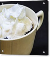 Coffee With Whipped Cream Acrylic Print