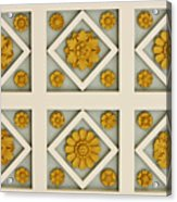 Coffered Ceiling Detail At Getty Villa Acrylic Print by Teresa Mucha