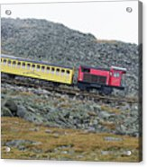 Cog Railway On Top Of Mt Washington Acrylic Print