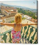 Coimbra Aerial Woman Acrylic Print