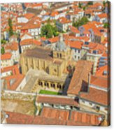 Coimbra Cathedral Aerial Acrylic Print