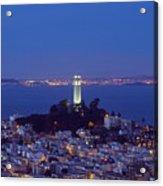 Coit Tower At Dusk San Francisco California Acrylic Print
