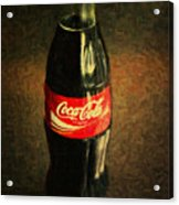 Coke Bottle Acrylic Print by Wingsdomain Art and Photography
