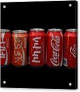 Coke Cans Acrylic Print