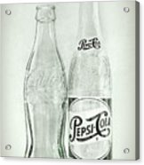 Coke Or Pepsi Black And White Acrylic Print