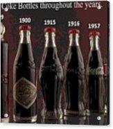 Coke Through Time Acrylic Print