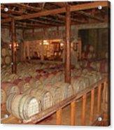 Colchagua Valley Wine Barrels Acrylic Print