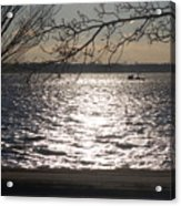 Cold, Bright, And Windy- Before The Freeze Acrylic Print