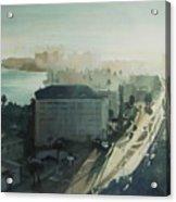Cold Dawn On Gulf Boulevard Acrylic Print by Elizabeth Carr