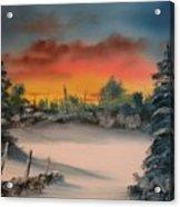 Cold Morning Sunrise Acrylic Print