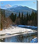 Cold River Bend Acrylic Print