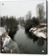 Cold River Acrylic Print