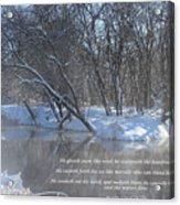 Cold-snow Acrylic Print