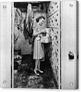 Cold Storage Room, C1940 Acrylic Print