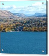 Coldstream Valley In Autumn Acrylic Print