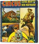 Cole Bros Circus With Clyde Beatty And Ken Maynard Vintage Cover Magazine And Daily Review Acrylic Print