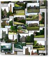 Collage Cornell University Ithaca New York Vertical 02 Acrylic Print
