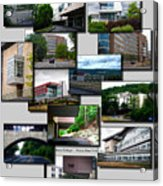Collage Ithaca College Ithaca New York Vertical Acrylic Print