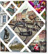 Collage Of Copenhagen  Acrylic Print