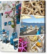 Collage Of Crete  Acrylic Print