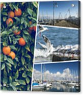 Collage Of Cyprus Images Acrylic Print