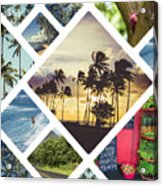 Collage Of Hawaii  Acrylic Print