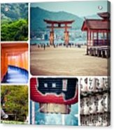 Collage Of Japan Images Acrylic Print