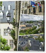 Collage Of Luxembourg Images Acrylic Print