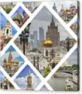 Collage Of Moscow Acrylic Print