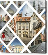Collage Of Riga Acrylic Print