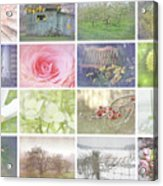 Collage Of Seasonal Images With Vintage Look Acrylic Print