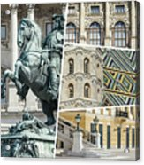 Collage Of Vienna Acrylic Print