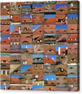 Collage Roof And Windows - The City S Eyes Acrylic Print