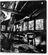 Collapsed Roof Acrylic Print