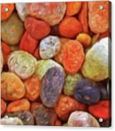 Collecting Pebbles Acrylic Print